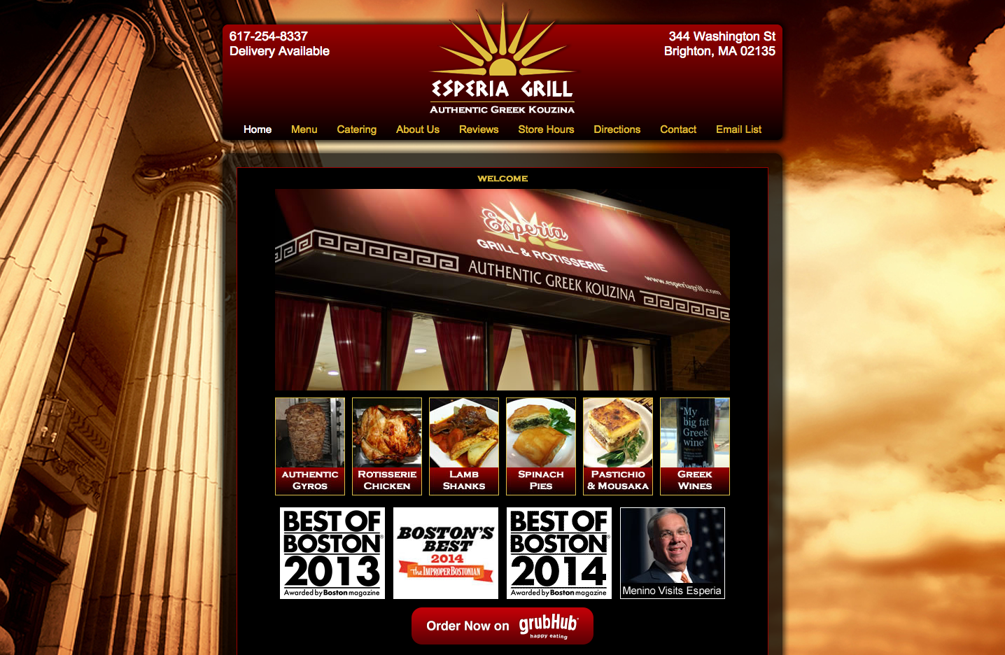 Perry Web Creations - Portfolio Item - Esperia Grill