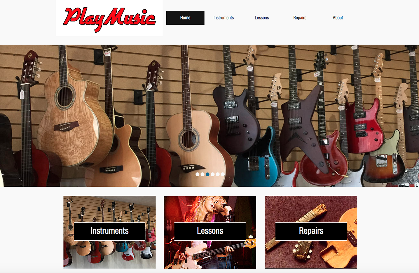 Perry Web Creations - Portfolio Item - Play Music